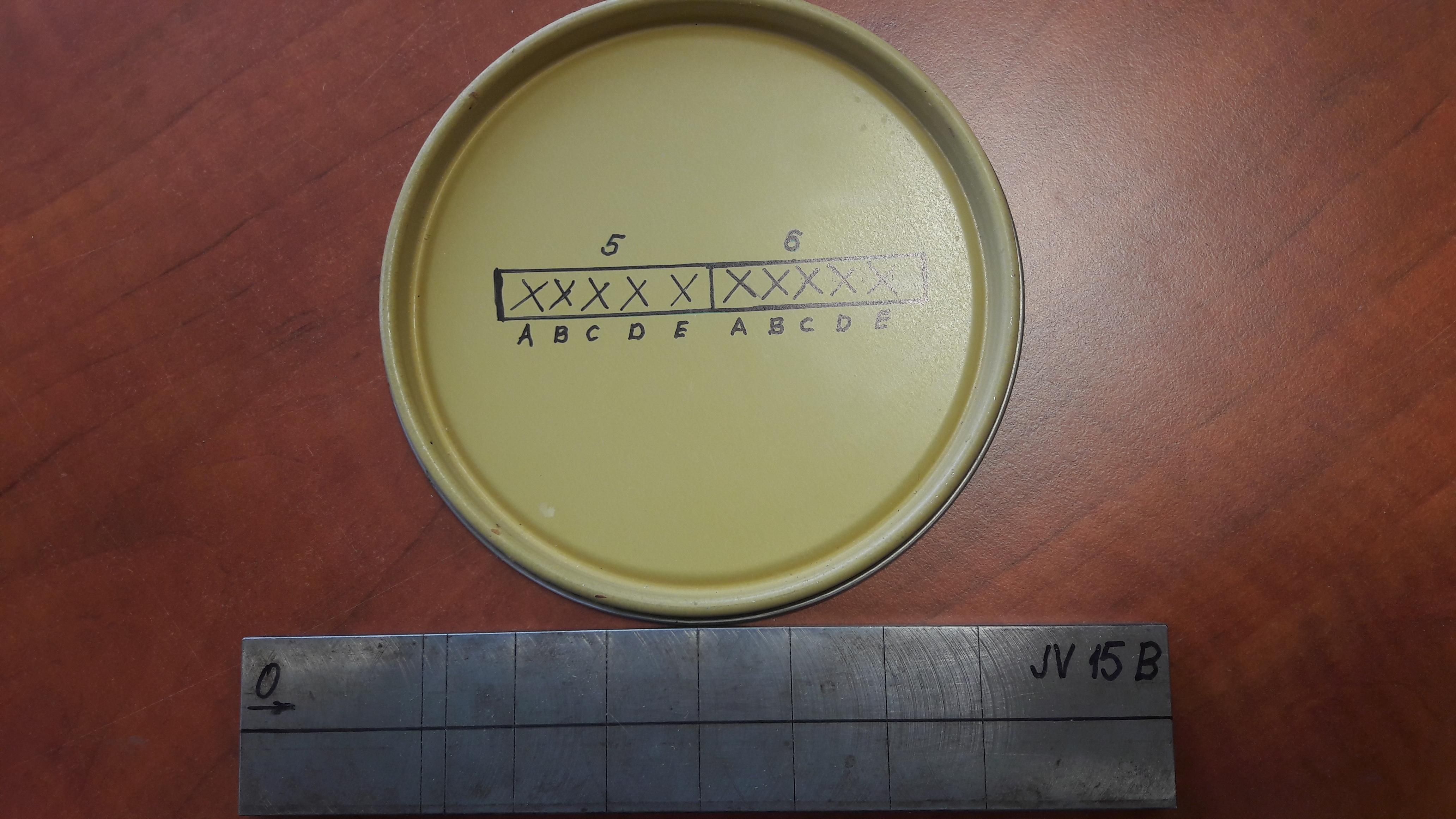 Örvényáramos jártassági vizsgálat - JV15